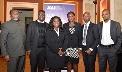 Empire African Institute team with the Ghanian ambassador